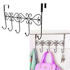 Over the Door Hanging Hooks Coat Tie Towel Hat Belt Holder Wall Rack Home Hanger
