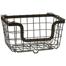 Gourmet Basics By Mikasa General Store Stacking/nesting Metal Basket, Antique -