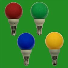 12x 0.5W LED Coloured SES E14 Golf Round Light Bulb Lamp Red Yellow Green Blue