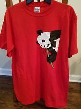 Original T-shirt Limited Print Graphic Panda Gildan Ultra Blend RED Large