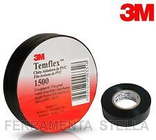 NASTRO ISOLANTE ISOLATO NERO 3M IN PVC 19 MM X 25 MT ELETTRICISTA TEMFLEX 1500