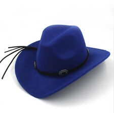 Adult / Kid Size Felt Western Cowboy Hat Wide Brim Cowgirl Retro Band Sombrero