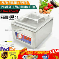 Table Top Commercial Vacuum Sealing Machine Packing Sealer 120W Chamber DZ-260C