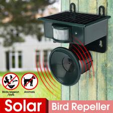 Solar Tiervertreiber Ultraschall Vogel-Abwehr Katzen Hunde Vertreiber Schreck