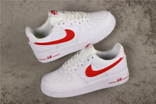 Nike Air Force 1 Low Shoes Casual Sneakers White Black - White Red Men's Size