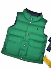 Polo RALPH LAUREN boys reversible Green to blue Down winter Vest size 2T 2 T