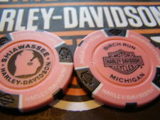 Harley Davidson Pink & Black Poker Chip from  Birch Run, MI
