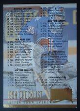 NHL 249 Checklist Fleer Ultra 1994/95