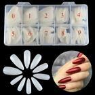 500Pcs/Box Long Stiletto French False Nail Tips Full Cover Acrylic Gel Nails Art