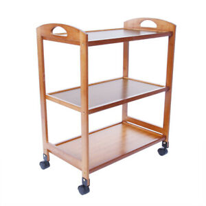 3-Tier Moveable Kitchen Trolley Rolling Storage Rack Organizer With Wheels GS