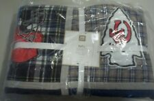 POTTERY BARN TEEN NFL QUILT PATCHWORK AFC TWIN FOOTBALL #1240