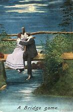 Postcard - Entitled The Bridge Game