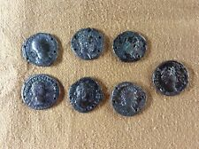 More details for seven silver roman coins