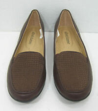 Women's Alfred Dunner Brown Size 6 1/2 M Slip On Loafer Flat Shoes
