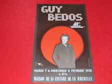 COLL.J. LE BOURHIS AFFICHES Spectacles / GUY BEDOS 1978 La Rochelle Rare Barclay