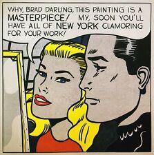 Masterpiece Roy Lichtenstein print in 11 x 14 mount ready to frame SUPERB