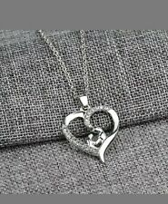 Mom and child Heart Love Chain Necklace Mothers Day