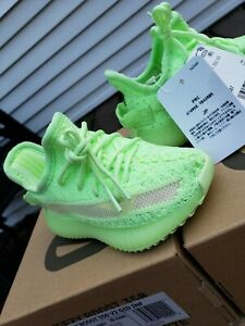 NEW Adidas Yeezy Boost 350 v2 Glow SIZE 5k 7.5k 8k 9k TODDLER EG6887 KID 5 7 8 9