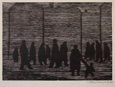 Peter Schmidt - Passanten - Holzschnitt - 1966