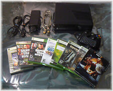 Black Xbox 360 S Model 1439 4GB Console w/ Wireless Controller, 8 Games, Bundle