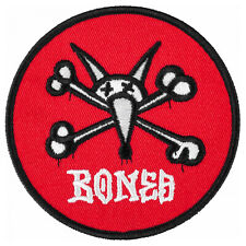 Powell Peralta Skateboard Patch Vato Rat Red Embroidered Iron /Sew On