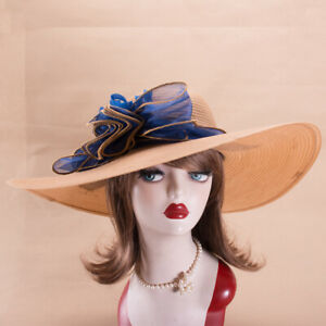 Womens Dress Formal Church Wedding Kentucky Derby Tea Party Sun Hats X747