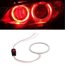 DC 12V 80mm COB LED Angel Eye Halo Ring Bulbs Car Decoration Fog Light Red
