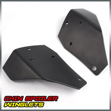 Fit For 2015 2019 Ford Mustang Gt350 Bumper Chin Spoiler Winglet Splitters Black Fits Mustang