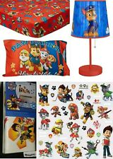40 PIECES NICKELODEON PAW PATROL DEAL-STICK  LAMP, TODDLER BED SET & WALL DECALS