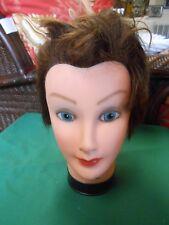 """Burmax"" Mannequin Woman Head Cosmetology Display Human Hair. Debra"