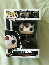 Funko POP Heroes  Suicide Squad 100 Katana & 97 Harley Quinn