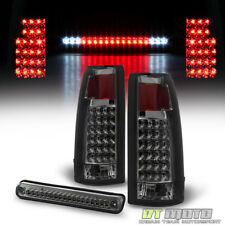 Smoke 1988-1998 Chevy/GMC C/K1500 2500 3500 LED Tail lights+3rd Brake Cargo Lamp
