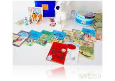 TinTin Milou . Lot of Small Figures, Post Card, Milou Dog NEW and VINTAGE & RARE