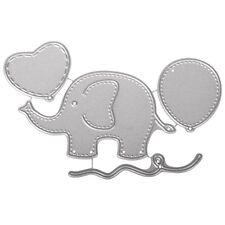 Stanzschablonen Prägeschablonen Baby-Elefant Luftballon Herz Rayher 59-241-000