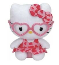 TY Beanie Baby HELLO KITTY Pink Heart Glasses 2014. Discontinued