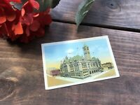 Vintage Linen Postcard Federal Building and Post Office,Omaha,Nebraska 1940s