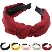 Women Headband Wide Hairband Twist Hair Band Knotted Cross Head Wrap Accessories