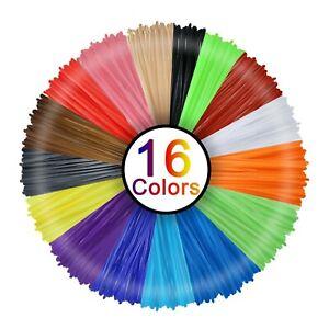 3D Pen Filament 16 Colours 5 m Each - 3D Pen Filament 1.75 mm 3D Pen Paint Set