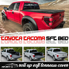 Fits 2016-2019 TOYOTA TACOMA 5ft Short Bed Vinyl Smooth Roll Up Tonneau Cover