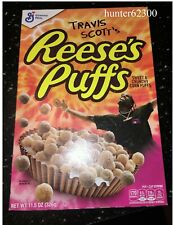Travis Scott Reeses Puffs Cereal Box Rare Limited Edition Unopened New rap hip h
