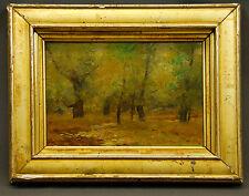 Landscape Forest Trees Painting by Dedrick Brandes Stuber 1878 - 1954. Signed.