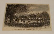 1876 magazine engraving ~ DUTCH FARMHOUSE, Cape of Good Hope