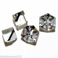 Vintage Crystal Cube 6mm Earring Square Swarovski Crystal Comet 6 Pc Argent 4841