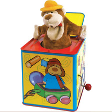 ANIMAL JACK IN A BOX - 09487 TRADITONAL TIN TOY MUSICAL BOX CHILDS KIDS FUN THE