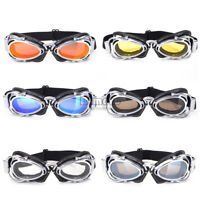 Motorcycle Goggles Motorcross Glasses For Cruiser Cafe Racer Scooter Eyewear