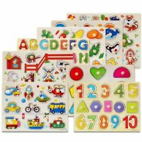Puzzle Hand Grab Board Set Educational Wooden Toys For Children Montessori Toys