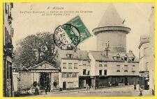 cpa Rare ROUEN Place BOUVREUIL Entrée du COUVENT des URSULINES Tour Jeanne d'Arc