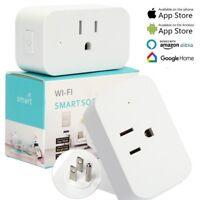 WiFi Smart Plug Works with Amazon Alexa - 3 prong Single Socket White USA