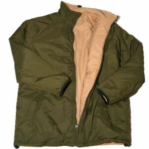 BRITISH ARMY SURPLUS THERMAL JACKET S M L XL REVERSIBLE GREEN/SAND ISSUED