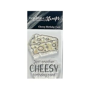 Cheesy Birthday Stamp Words Hunkydory clear cling stamps Cheese FTLS724